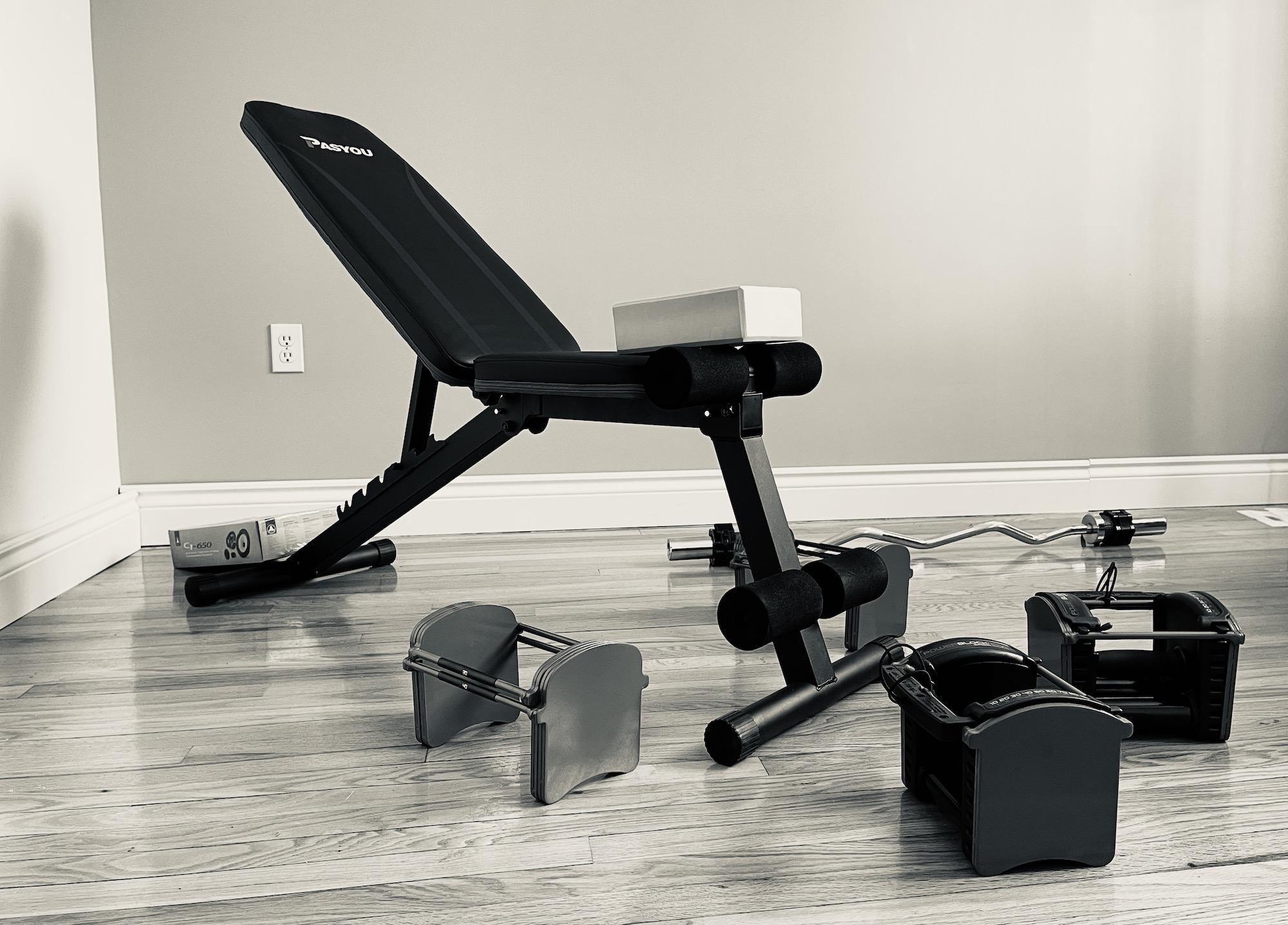Configurer un gym maison avec une seule paire de dumbbells